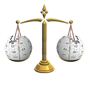 Wikipedia scale of justice By Olmec https://commons.wikimedia.org/wiki/File:Wikipedia_scale_of_justice.png