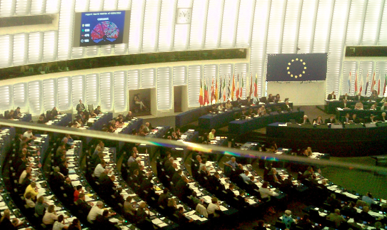 The Plenary of the European Parliament in Strassbourg